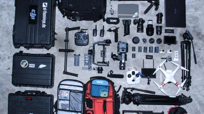 El Flamingo Films Camera Equipment.