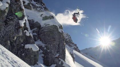 Backflipping A Cliff In Montafon