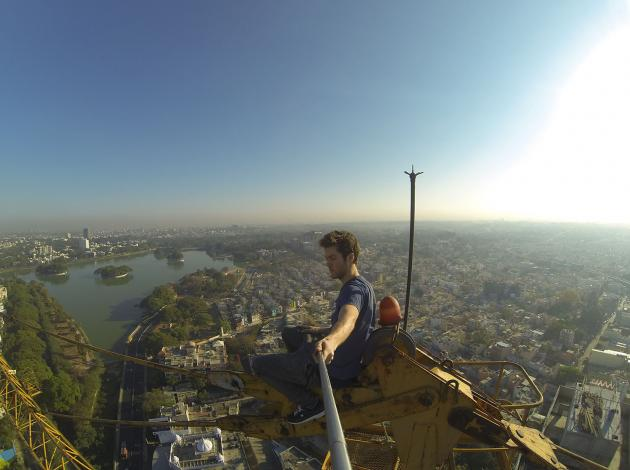 James Kingston on a 150m-High South Bank Tower Crane